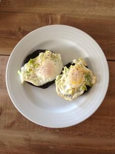 eggs leeks