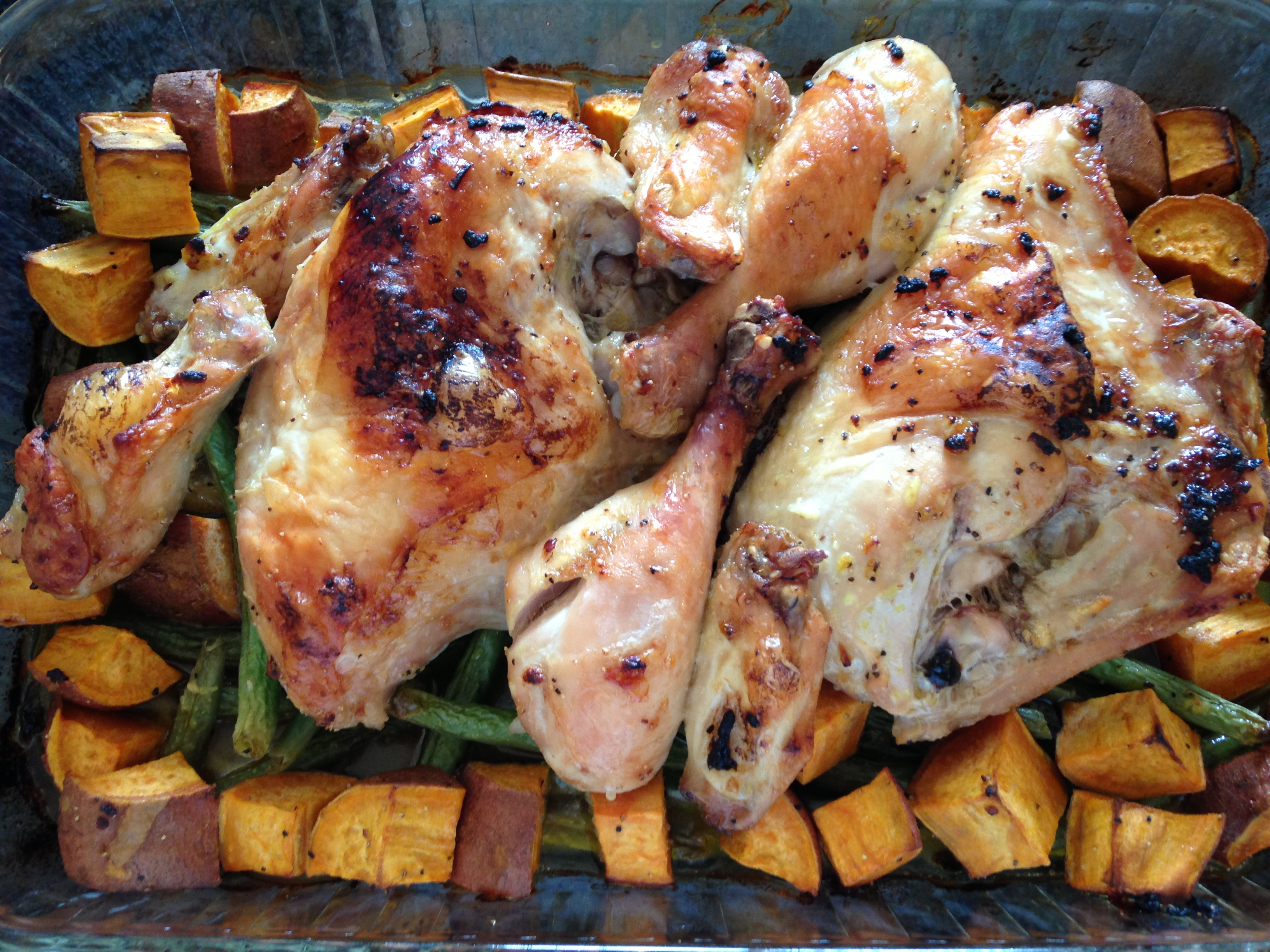 Roasted Chicken With Green Beans