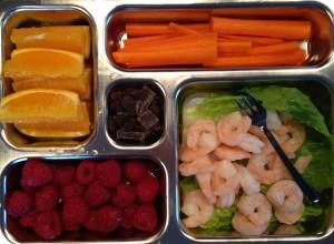 Shrimp lunchable